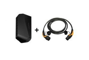 Easee Ladebox mit Ladekabel 3-Phasen 32A Ladestation Elektroauto aufladen Elektroauto zu Hause EV Solution