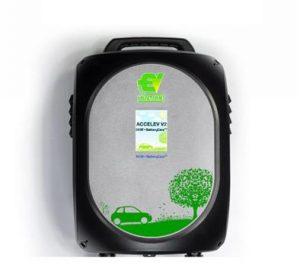 Accelev EV Solution laddbox laddstation nissan leaf Jaguar I-Pace Range Rover ladda elbilen laddkabel