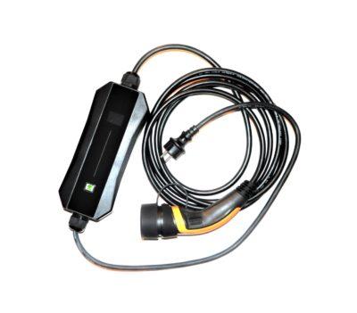 Ladekabel mit einstellbarem Ladestrom typ 1 schuko 6-16A mit Gleichstromschutz